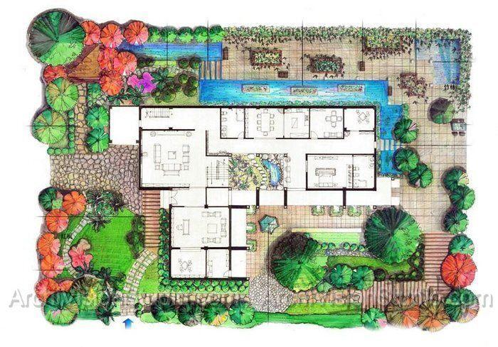 Landscape Architecture Sketches Plans