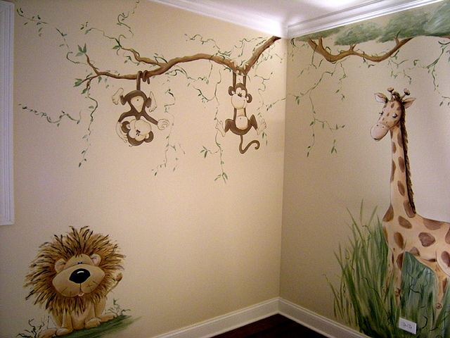 Little Boy Room Ideas Murals Jungle Nursery Mural Painted For S Baby