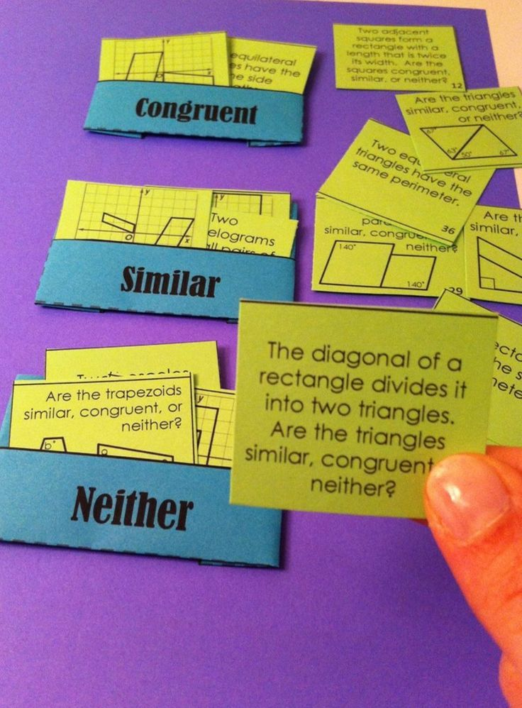 Congruent vs. Similar Card Sort Different types