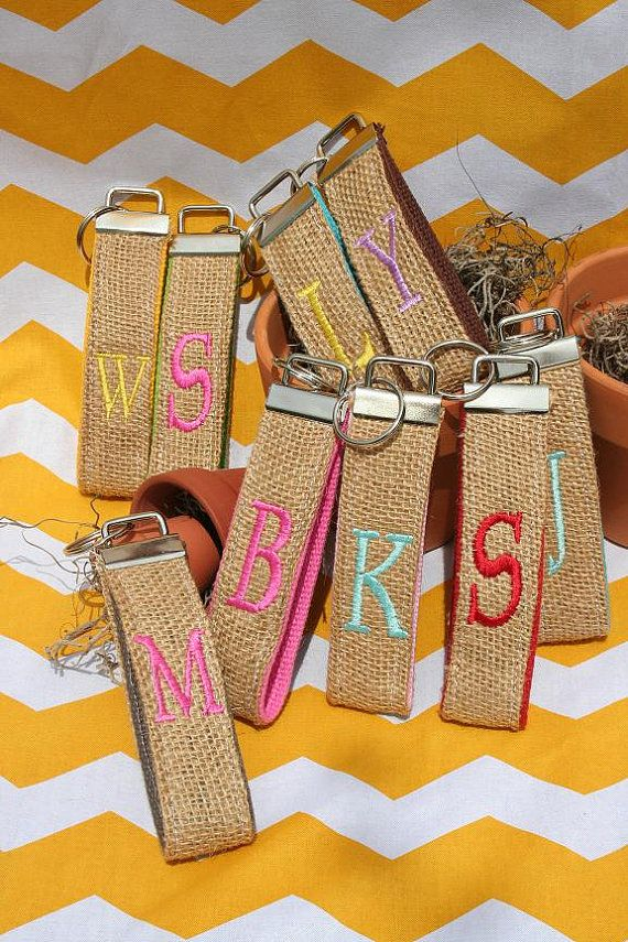 Embroidered Key Personalized Chains