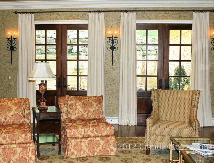 Curtains For French Doors Beach House Pinterest Doors