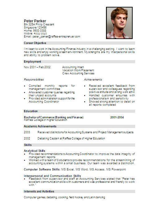 sample resume format grayshon co