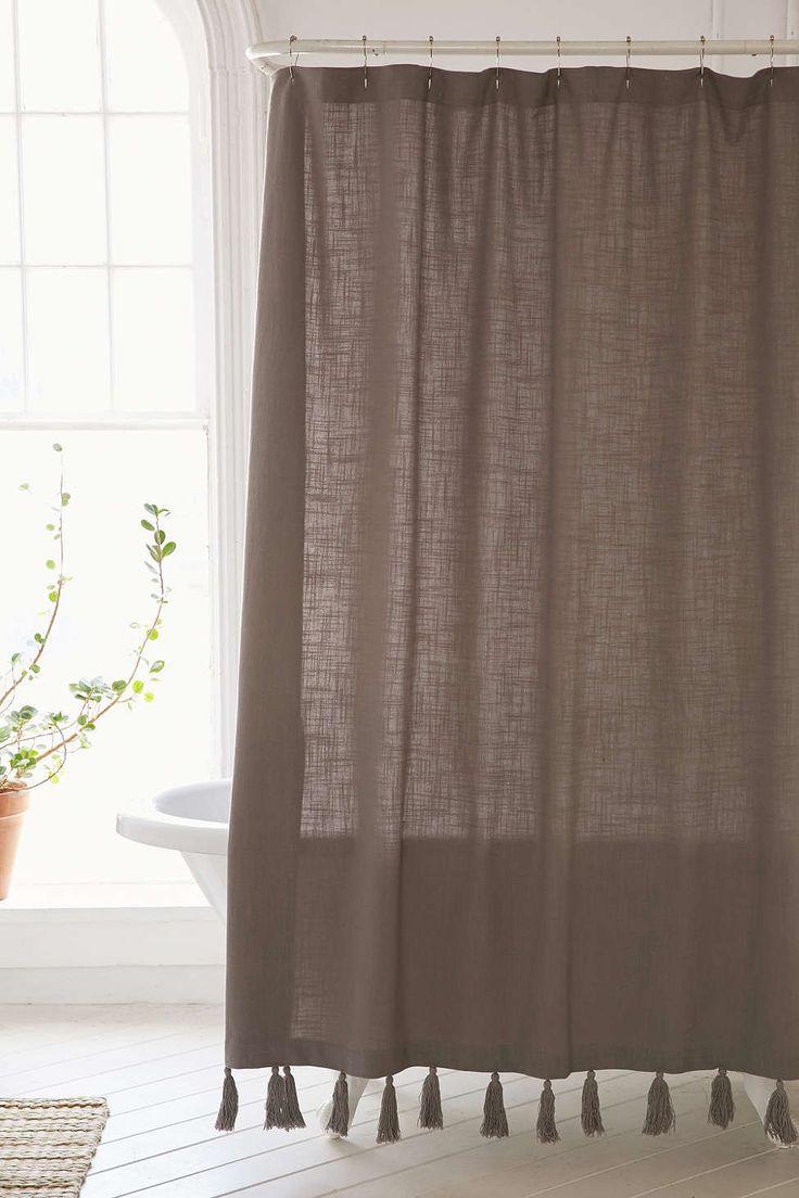 Plum Amp Bow Tassel Fringe Shower Curtain Pinterest