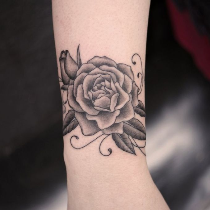 rose tattoo wrist pictures - Google Search | Flowers ...
