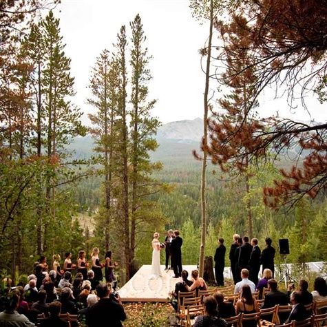 The Ceremony Spot Backed Up To The Arapaho National Forest And Overlooked Breckenridge Mountain