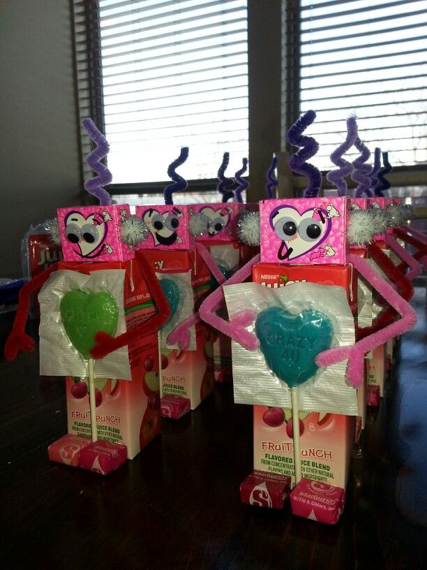 Valentines Day Robot Juice Boxes For When Im Feeling