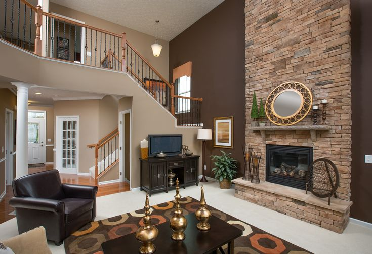 Two Story Great Room In This 3 Bedroom Open Floor Plan