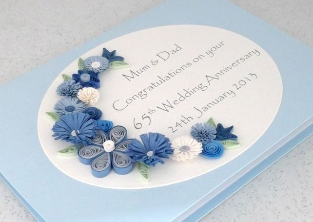 17 Best Images About 65th Anniv Ideas On Pinterest Wedding Anniversary Cards Anniversary