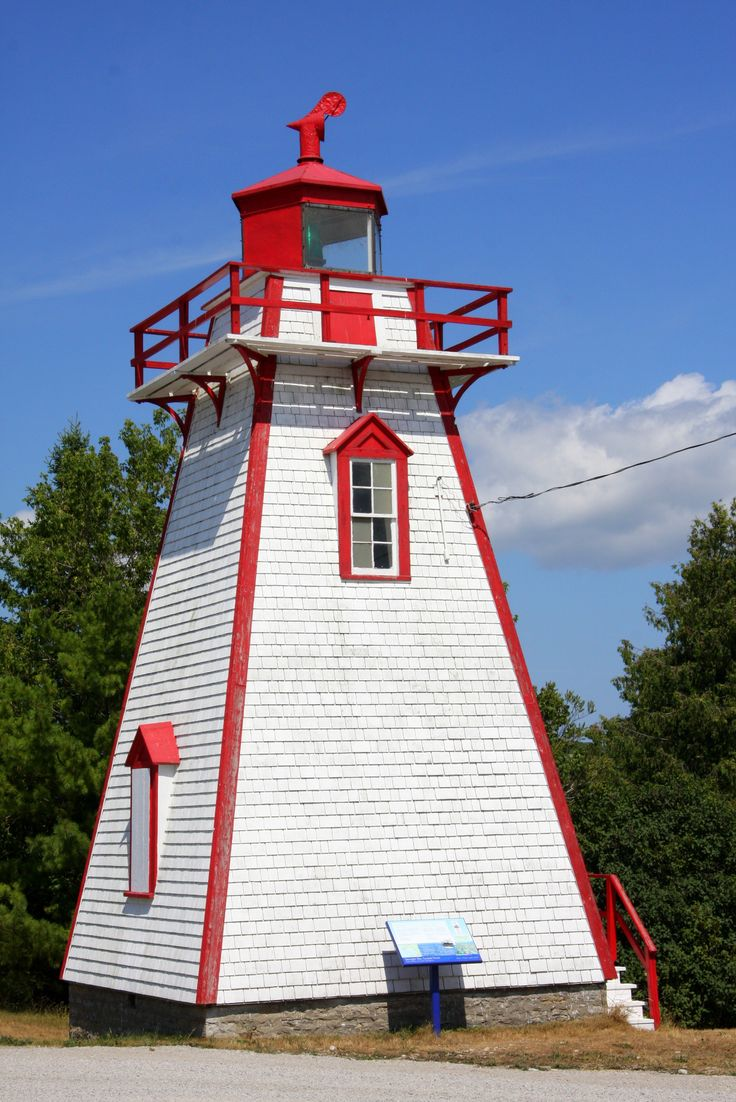 Lighthouse, Manitowaning, Ontario, Canada Silos, towers