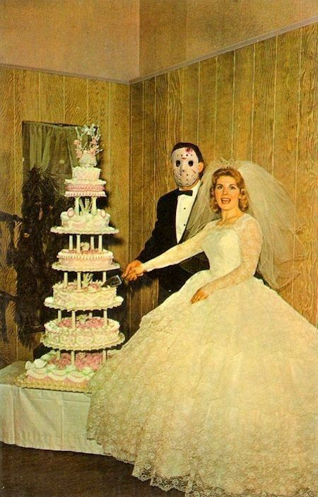 I Wonder If They Got Married On Friday The 13th Vintage Friday The 13th Wedding Portrait Photo