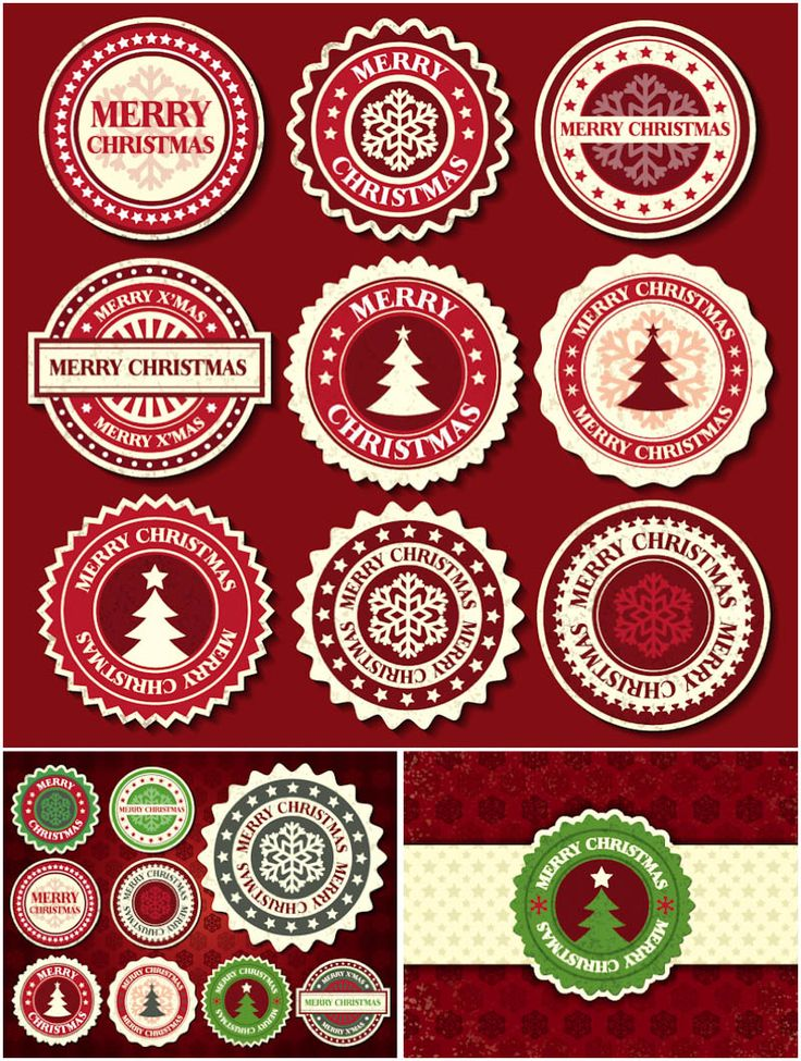 Christmas Badges Vector Free Vector Graphic Resources