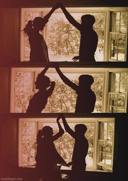 Dancing sillhouette love cute couples music happy dance  the most beautiful thin