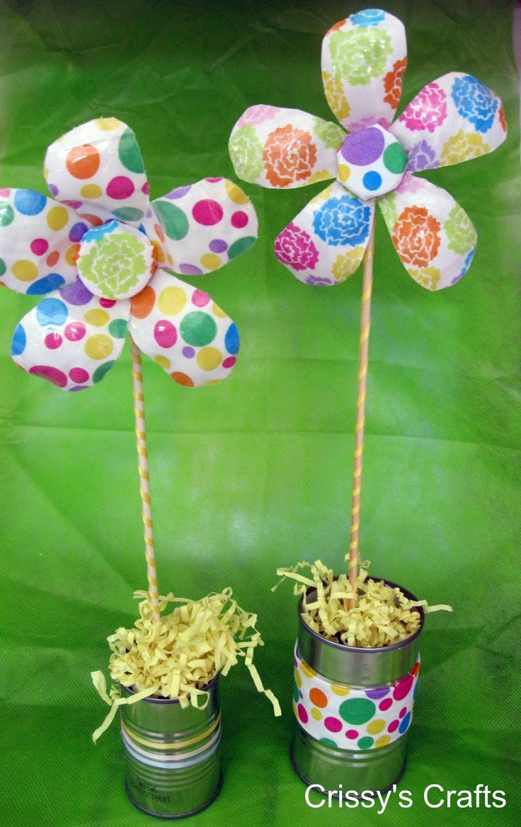 Crissy's Craft Recycled Water Bottle Flower These might
