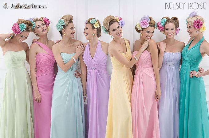 1000+ Images About Pastel Shade Wedding Dresses On