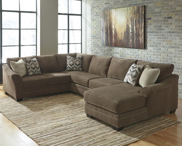Justyna Contemporary 3 Piece Sectional With Right Chaise