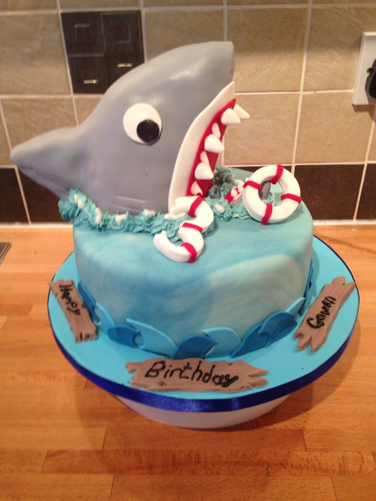 1000 Images About Shark Cakes On Pinterest Cakes San Jose Sharks And How To Make Cake