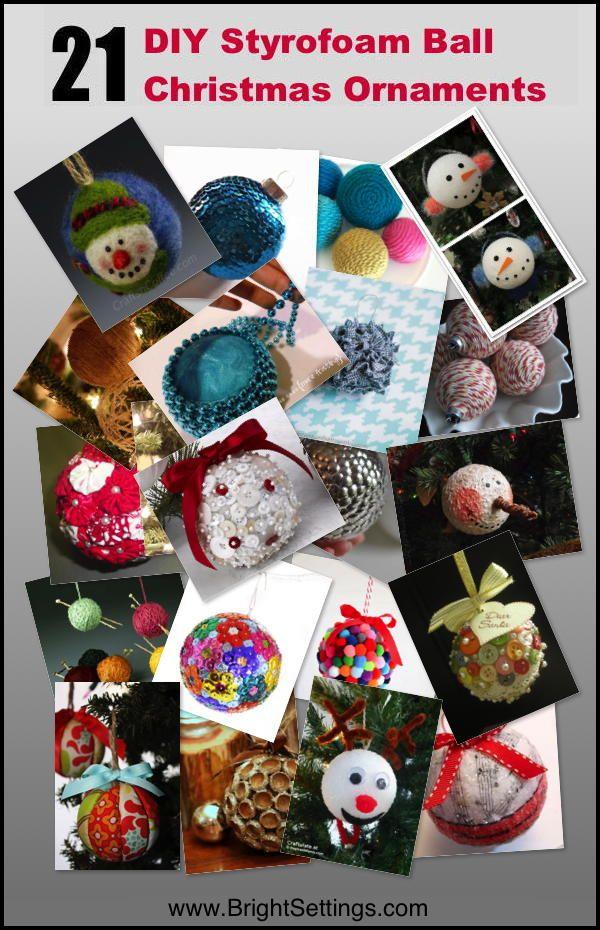 21 DIY Styrofoam Ball Christmas Ornaments — DIY tutorials