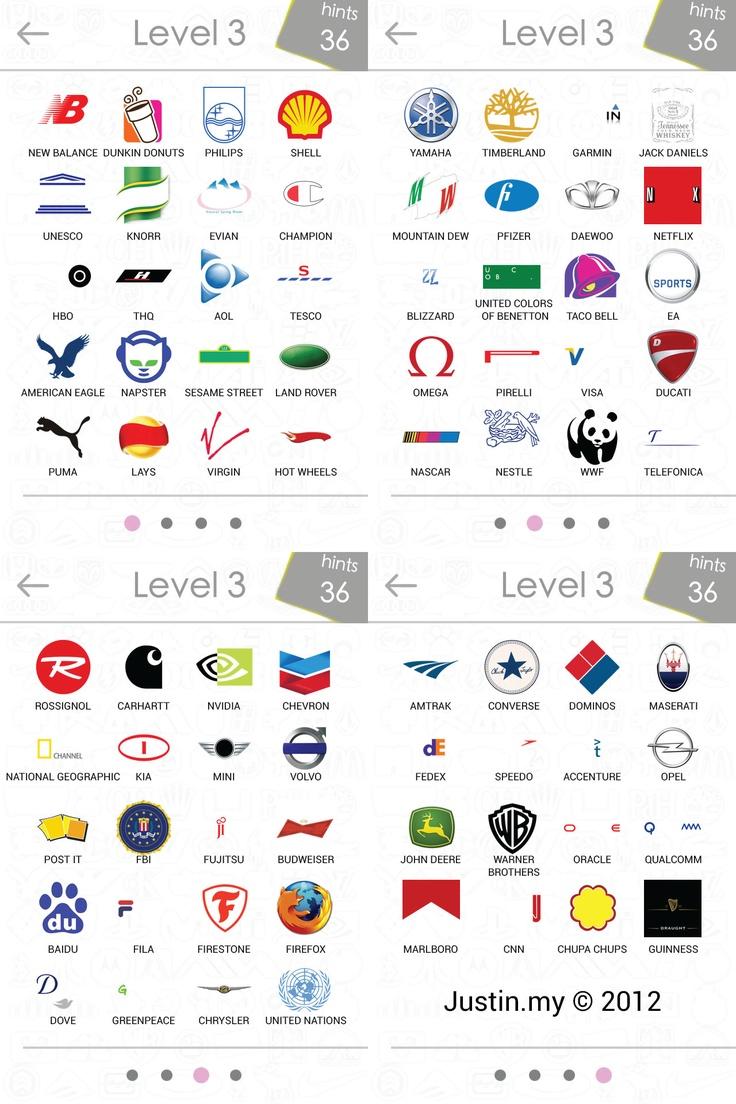 logosquizanswerslevel3 random Pinterest Logos