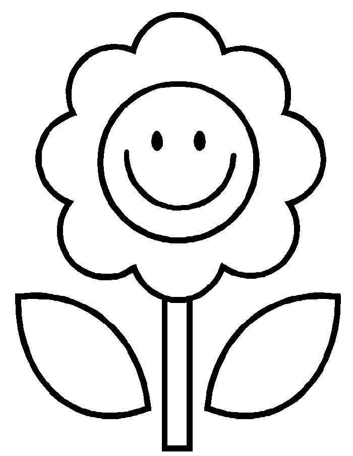 simple flower coloring page flower coloring pages kids coloring