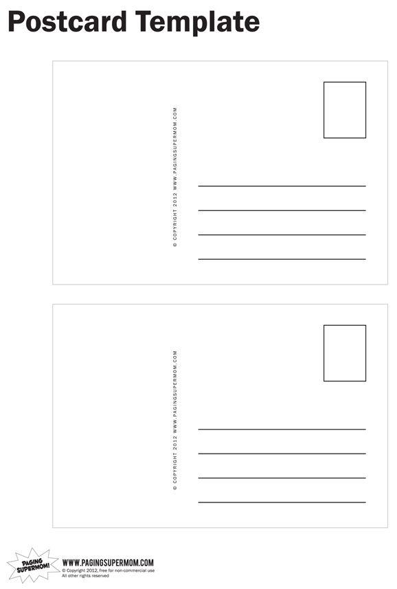 Postcard Sample Template free newsletter templates sample – Postcard Format Template