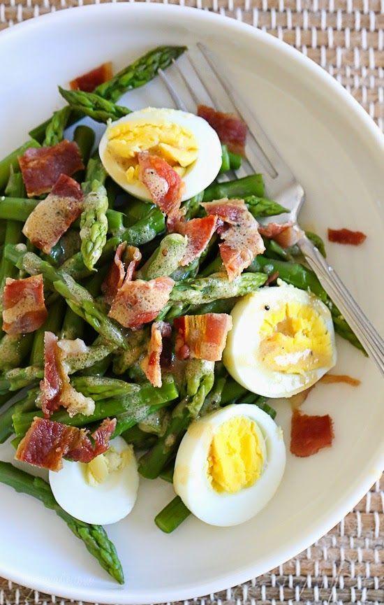 Asparagus, Egg and Bacon Salad with Dijon Vinaigrette – SO GOOD!
