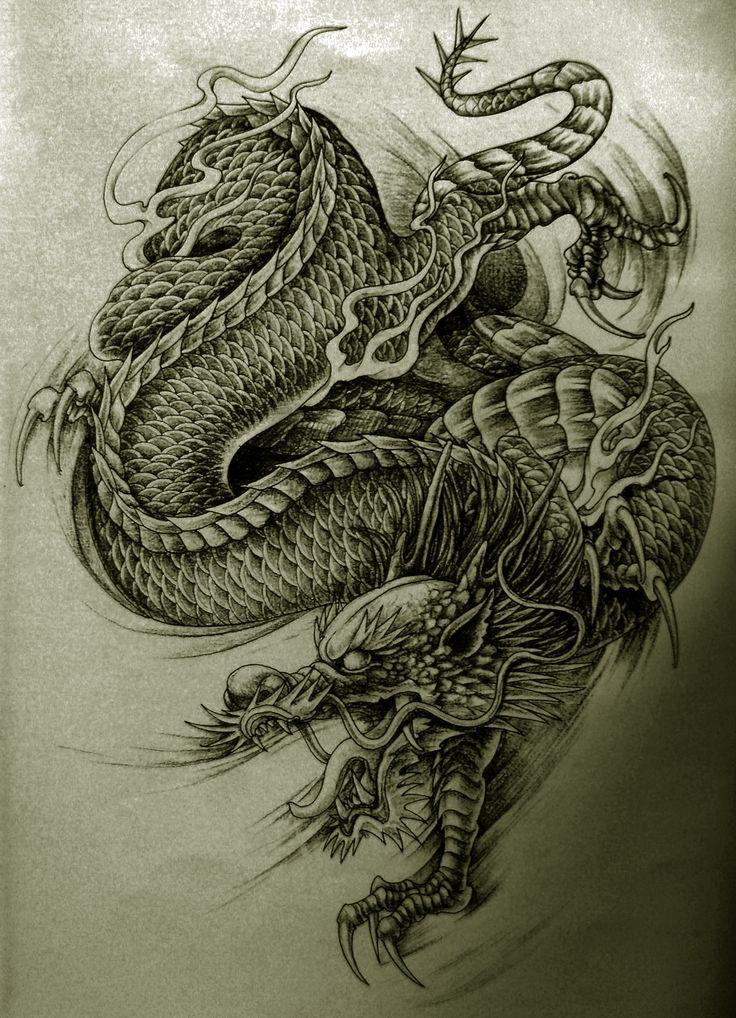 More http//tattooideen.at/drachentattoo/ Drachen