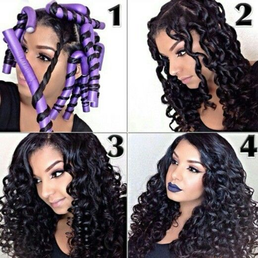 Flexirods On Long Hair Curly Hair Styles And Tips