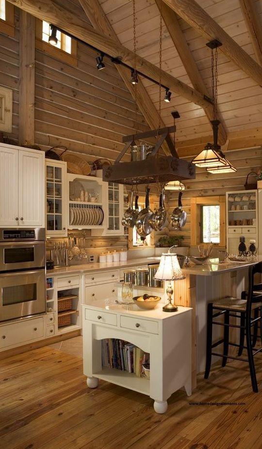 Best 25 Log Home Kitchens Ideas On Pinterest