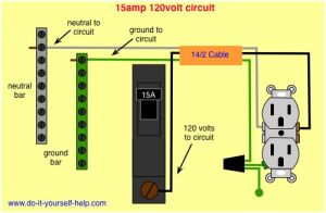 wiring diagram 15 amp circuit breaker 120 volt circuit