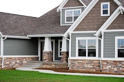 I Like The Combination Of Stone Siding And Shakes The
