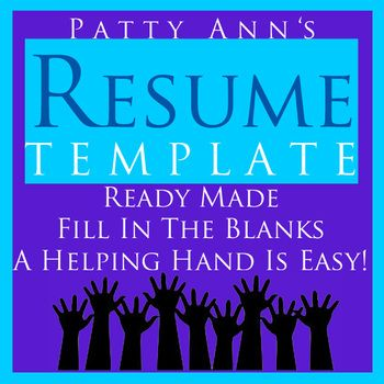 resume job amp career template gt generic ready made word doc just fill