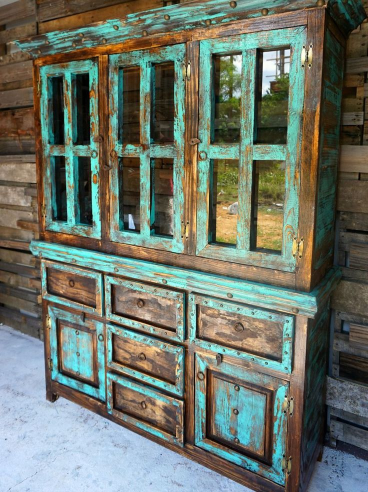 San Antonio Rustic Hutch – Sofia's Rustic Furniture – a perfect piece for a ranch, log cabin, or any western home.