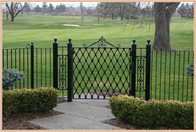Outdoor Wrought Iron Fence Cost On Pinterest Iron Fences Wrought