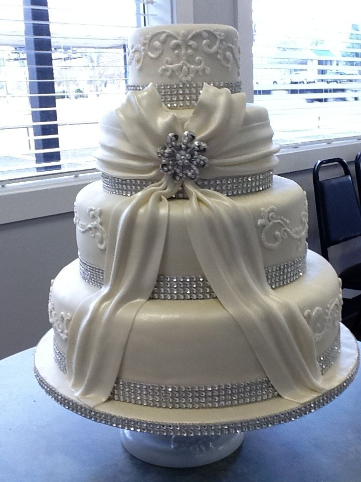 Candy Bling Two Tier Wedding Cakes Found On Cakecentral