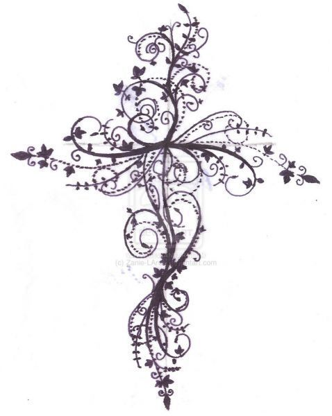 Feminine Cross Tattoos For Women