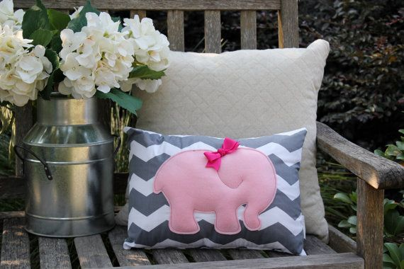 Pink Elephant Pillow