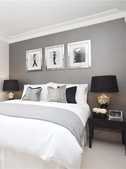 Find This Pin And More On For The Home Just Grey Wall Colour Master Bedroom Idea Color With A White