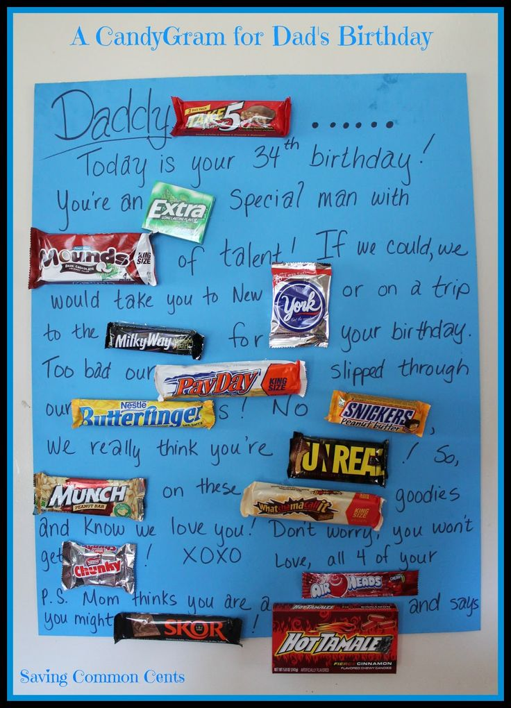 Saving Common Cents A CandyGram for Dad's Birthday