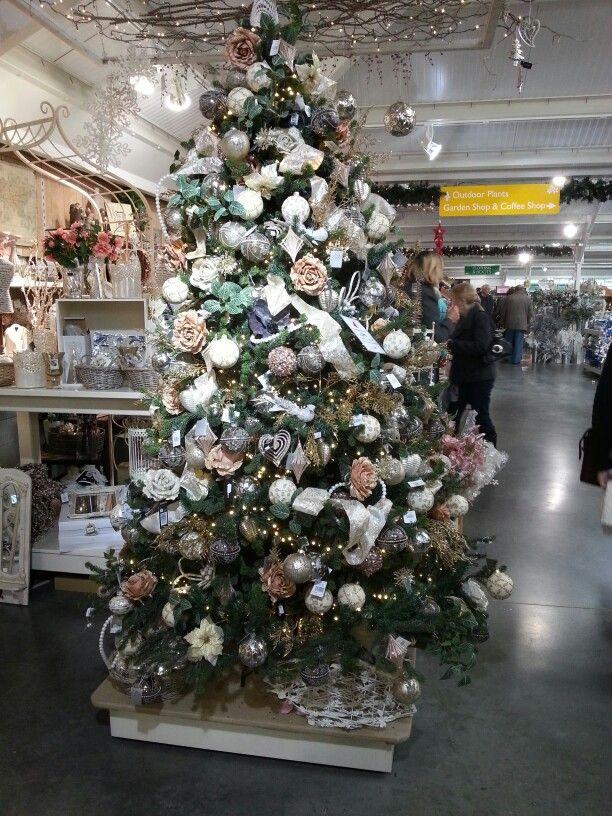 Gold and white tree Perrywood xmas shop Christmas Joy