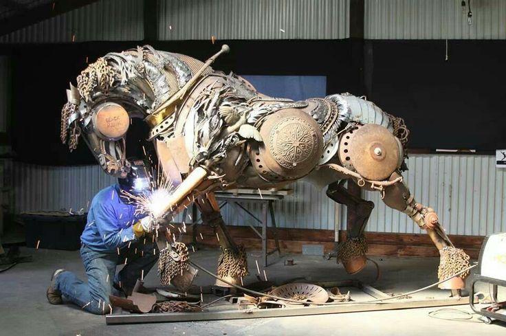 Plow Horse Sculpture By John Lopez Equine Is Fine Pinterest Sculpture Metals And Horses