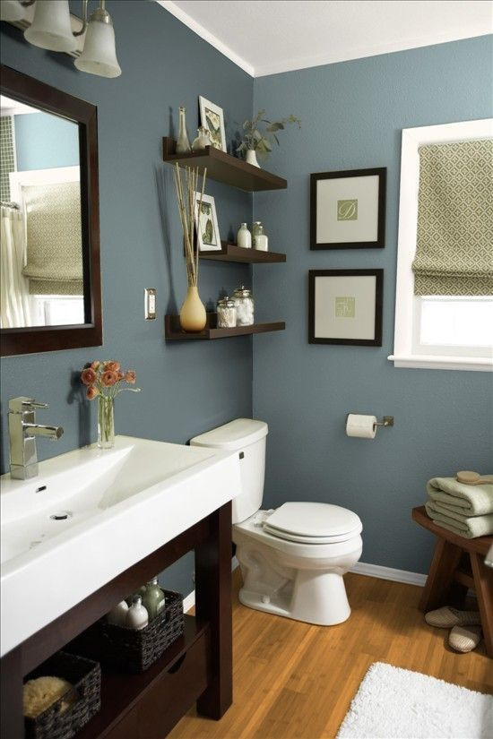 Mountain Stream By Sherwin Williams Beautiful Earthy Blue Paint Color For Bathrooms Especially When