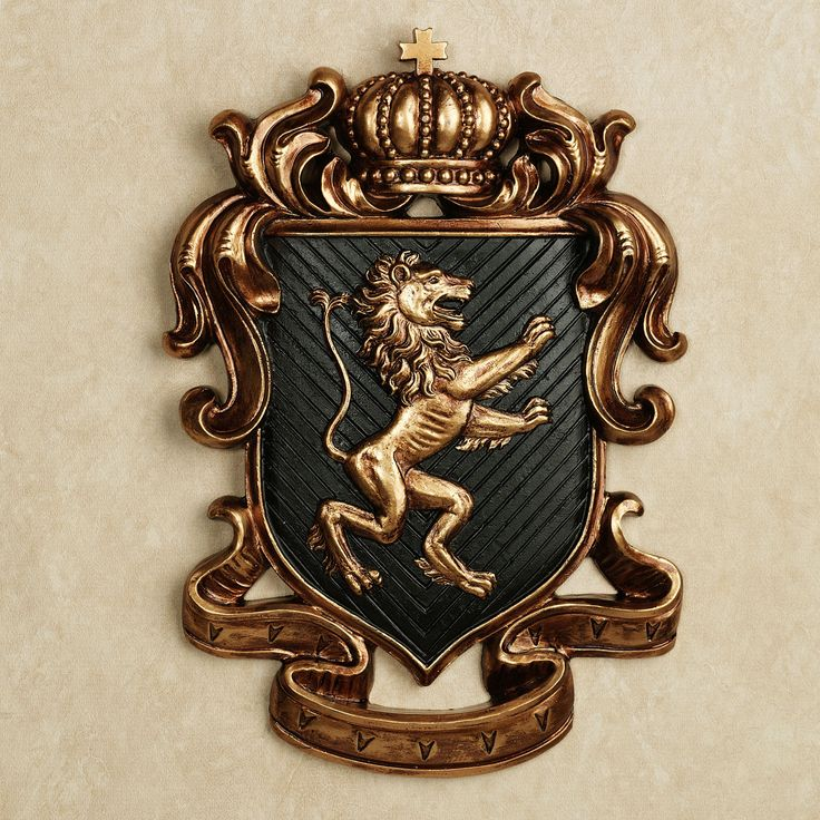 Lion Heart Coat of Arms Wall Plaque Decorations