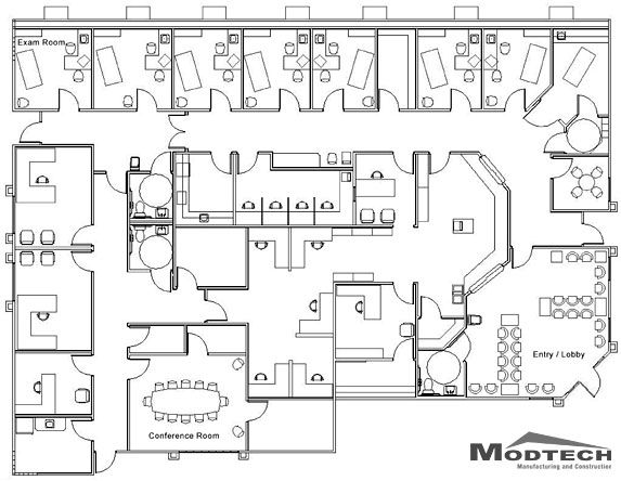 An Example Of A Medical Centre Floor Plan.