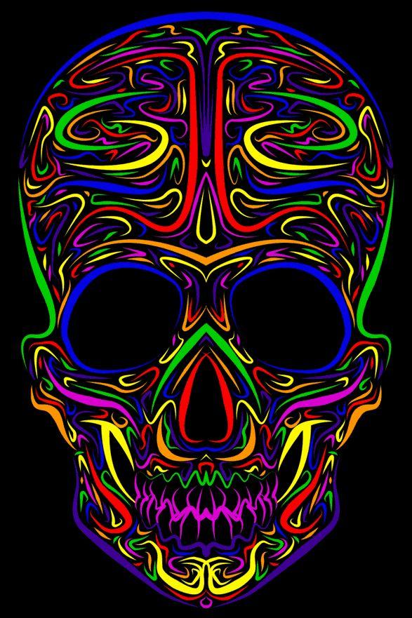 Psychedelic skull SKULLS Pinterest Psychedelic and