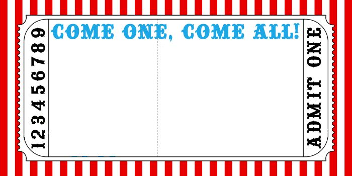 Carnival Ticket Template. circus carnival ticket printable invite ...