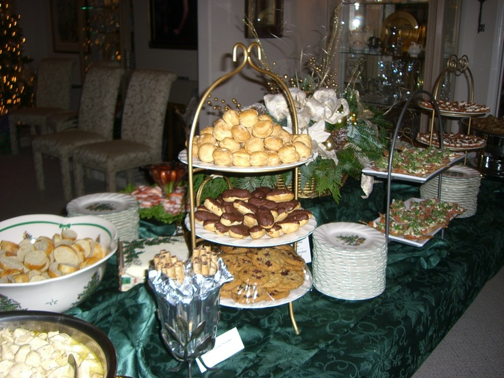 Buffet Table Christmas Party My Christmas Things