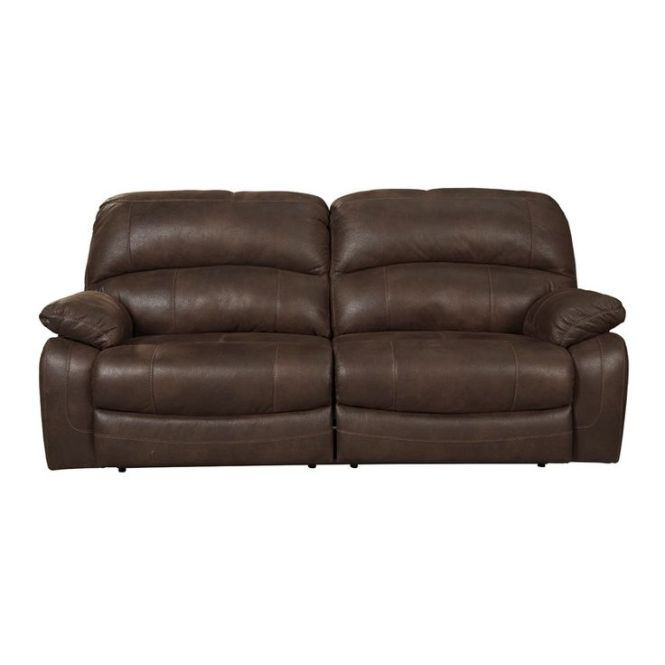 Ashley Zavier 2 Seat Brown Recli Furniture And Mattress Outlet