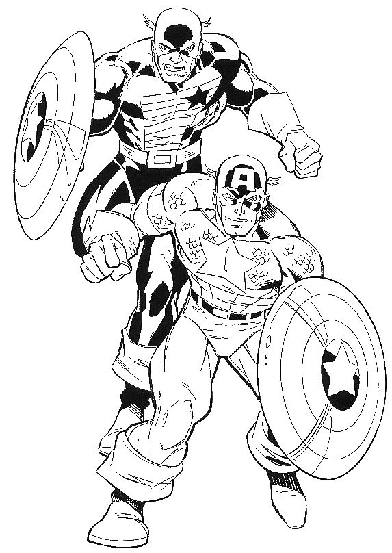 captain america coloring pages and page online on pinterest