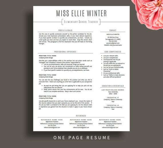 1000 ideas about teacher resume template on pinterest teacher