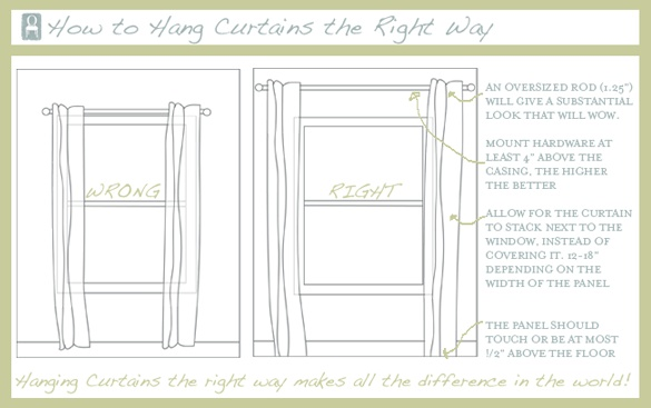 Hang Curtains The Right Way OpalNeverShouts How To Pinterest How To Hang Hanging